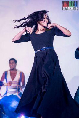 Sanjjanaa Performing at the Sakka Podu Podu Raja Audio Launch