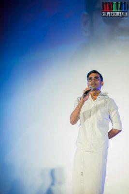 Dhanush at the Sakka Podu Podu Raja Audio Launch