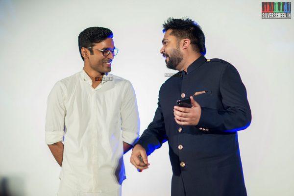 Dhanush and Simbu at the Sakka Podu Podu Raja Audio Launch