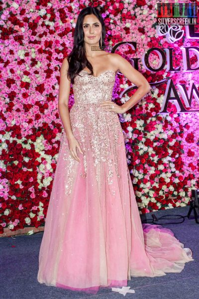 Katrina Kaif in a Reem Acra gown at the Lux Golden Rose Awards 2017