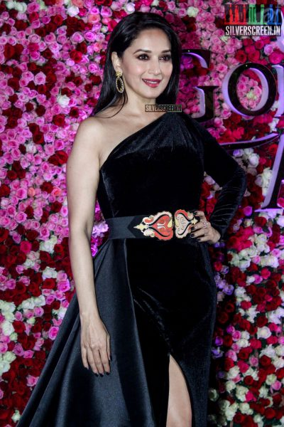 Madhuri Dixit in a Mark Bumgarner at the Lux Golden Rose Awards 2017