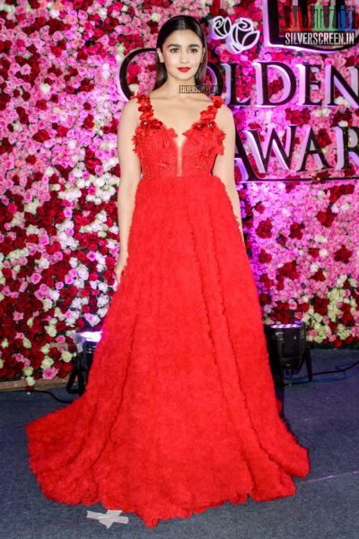 Alia Bhatt in a Teuta Matoshi Duriqi gown at the Lux Golden Rose Awards 2017