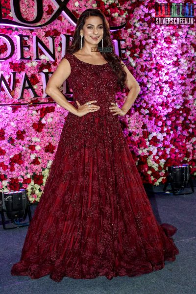 Juhi Chawla at the Lux Golden Rose Awards 2017