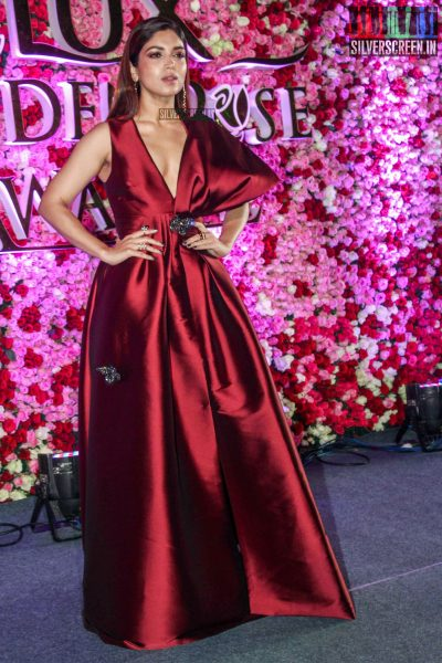 Bhumi Pednekar in a Sachin and Babi gown at the Lux Golden Rose Awards 2017
