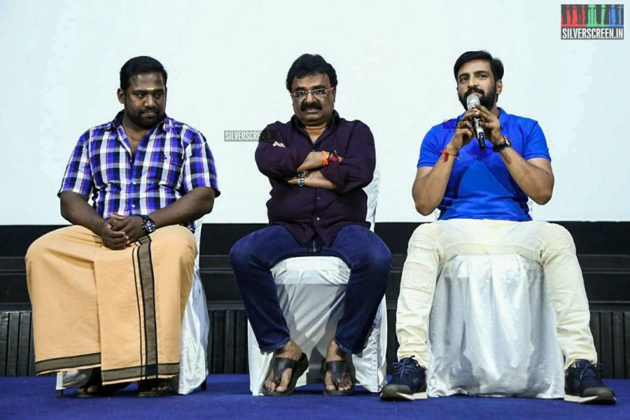 N Santhanam, Robo Shankar And VTV Ganesh At The Sakka Podu Podu Raja Press Meet