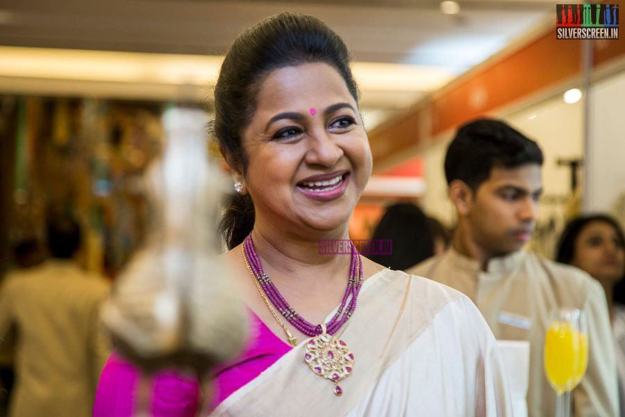 Radhika Sarathkumar At The Inauguration Of The Vimonisha Mega Style Souk 2017