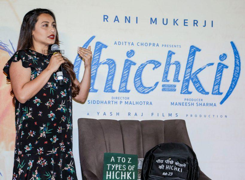 Rani Mukerji At The Hichki Traier Launch