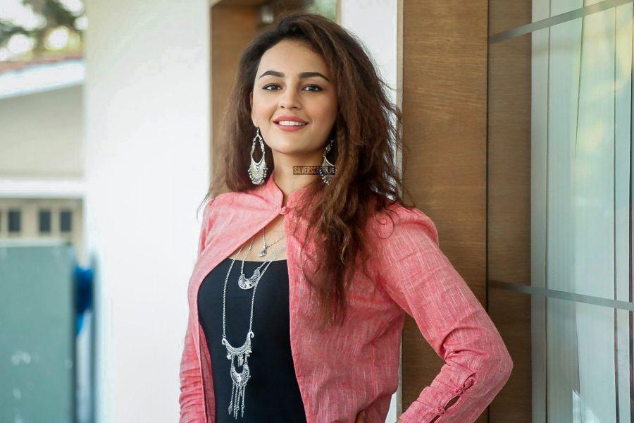 Seerat Kapoori At The Okka Kshanam Movie Success Meet