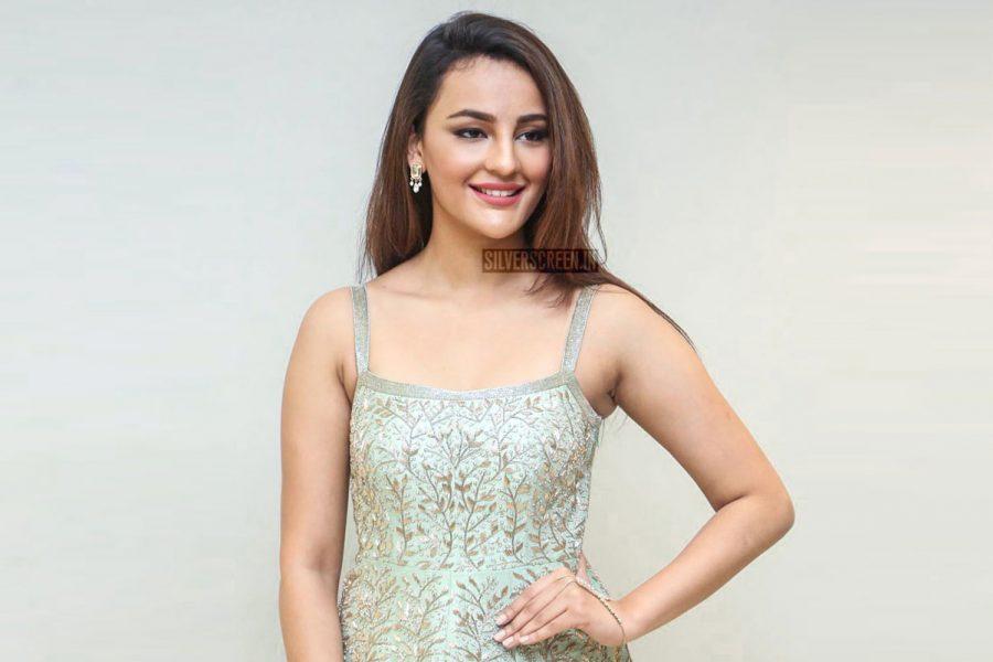 Seerat Kapoor At The Okka Kshanam Trailer Launch