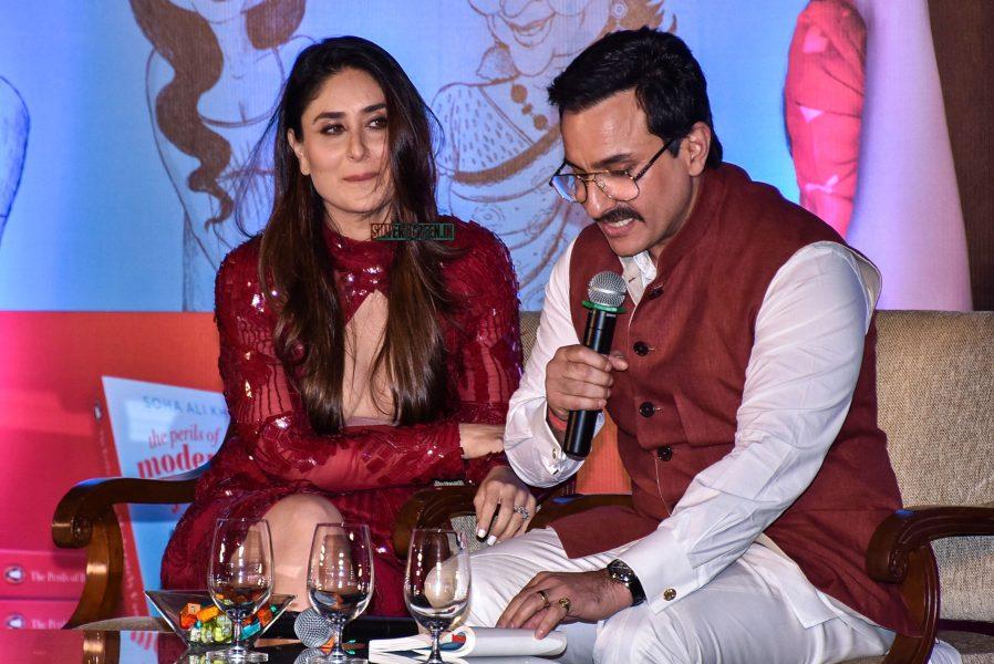 Saif Ali Khan, Kareena Kapoor At Soha Ali Khan's Book Launch In Mumbai
