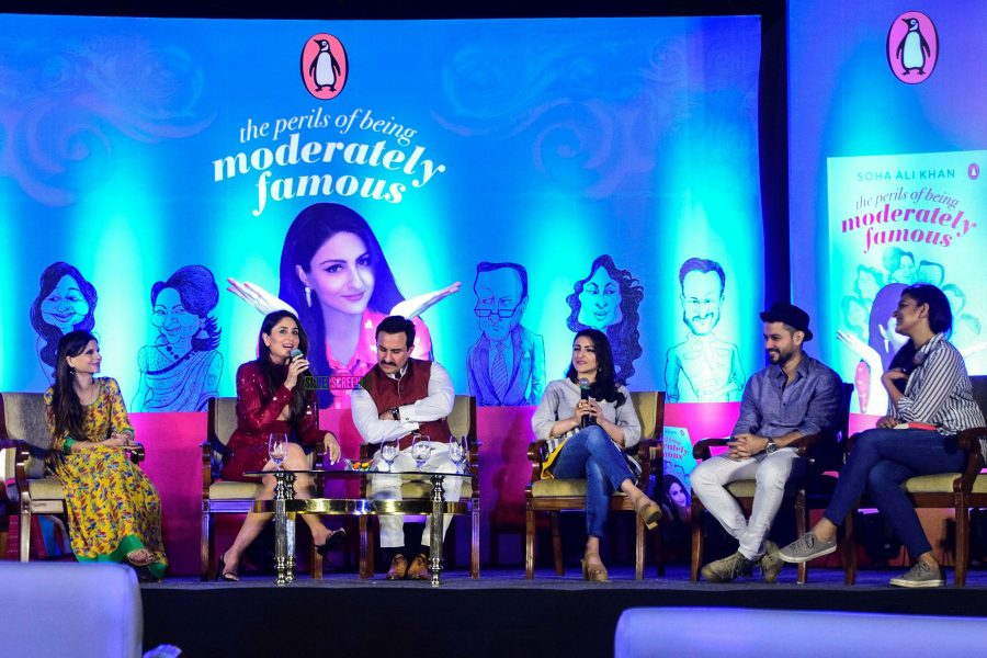Sharmila Tagore, Saif Ali Khan, Kareena Kapoor At Soha Ali Khan's Book Launch In Mumbai