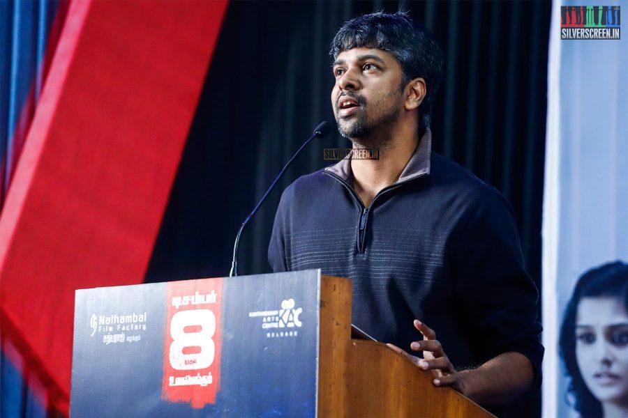 Madhan Karky At The Sathya Press Meet