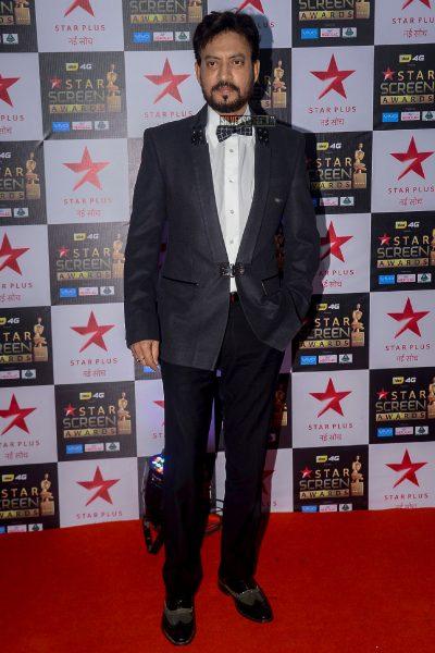 Irrfan Khan at the Star Screen Awards.