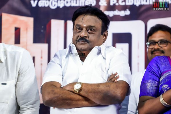 Vijayakanth At The Madura Veeran Audio Launch