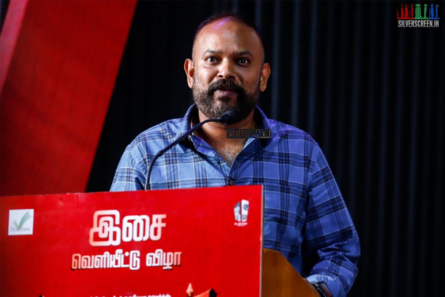 Venkat Prabhu At The Madura Veeran Audio Launch