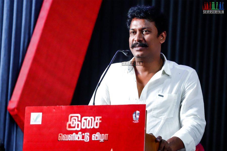 Samuthirakani At The Madura Veeran Audio Launch