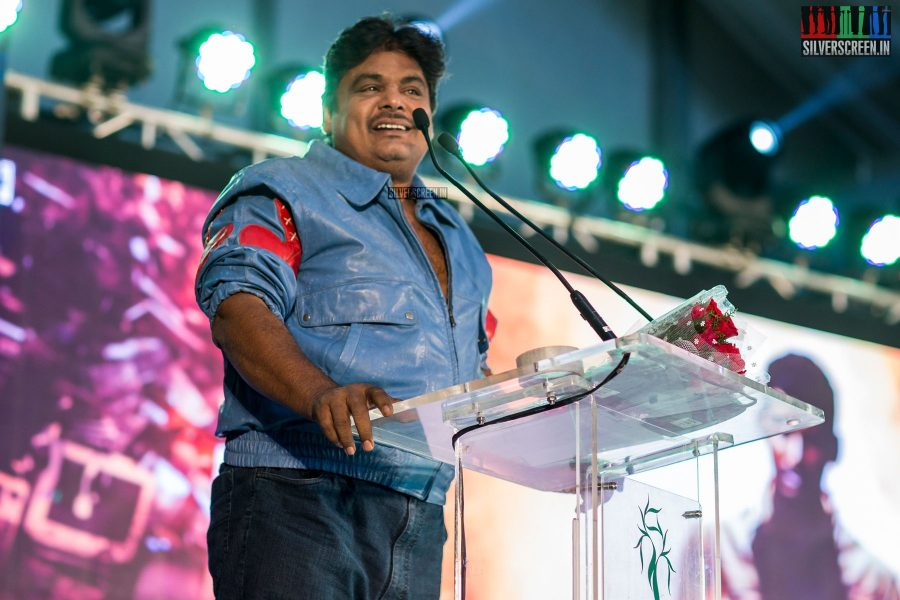 Mansoor Ali Khan At The Irumbu Thirai Trailer Launch