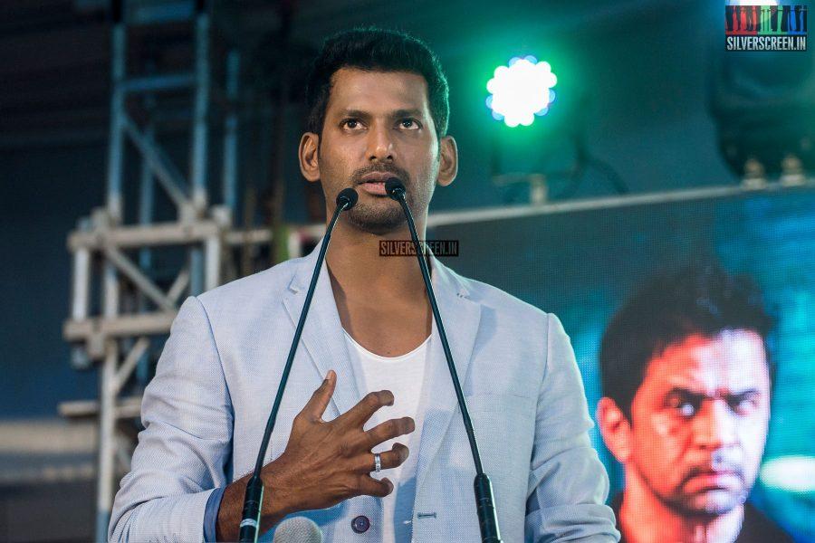 Vishal At The Irumbu Thirai Trailer Launch