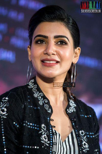 Samantha At The Irumbu Thirai Trailer Launch