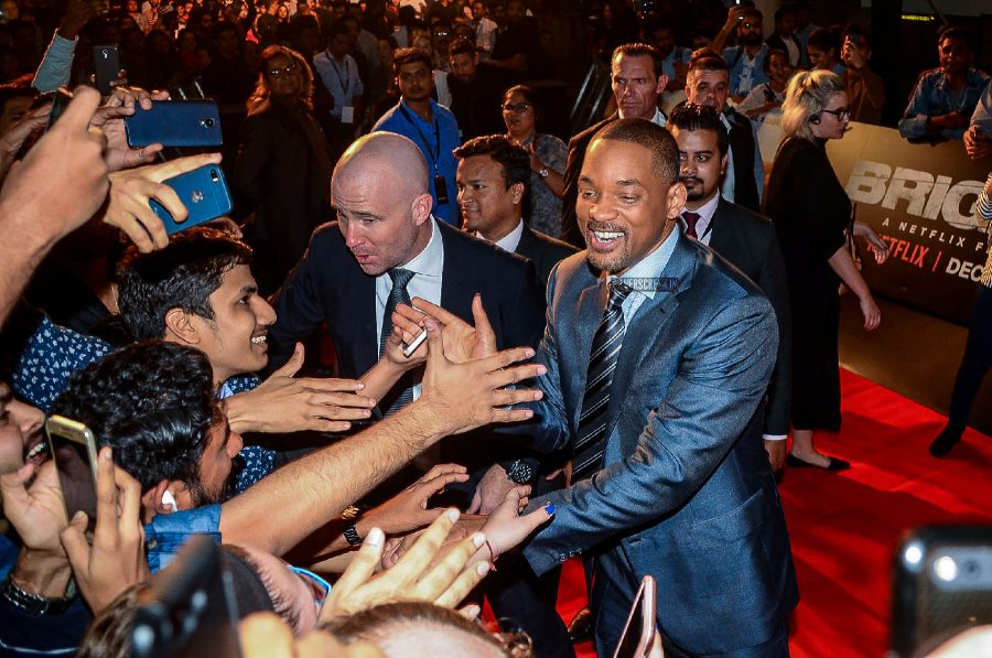 Will Smith At The Premiere Show Of Netflix's Bright In Mumbai