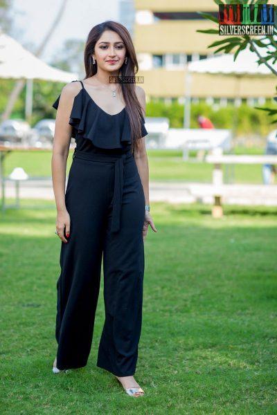 Sayesha Saigal at the Ghajinikanth First Single Launch