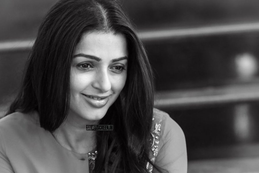 Bhumika Chawla During The Promotions of Middle Class Abbayi