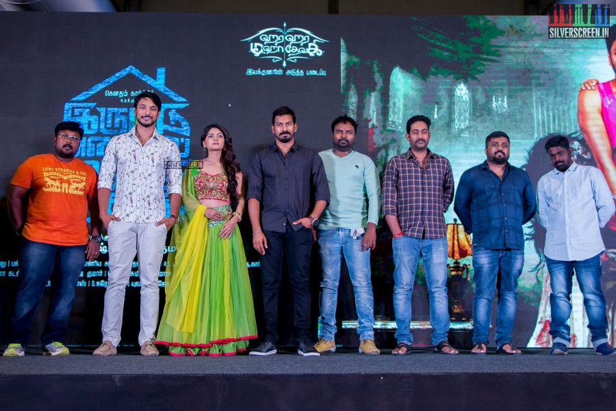 Gautham Karthik At The Iruttuaraiyil Murattu Kuthu Second Single Track Launch