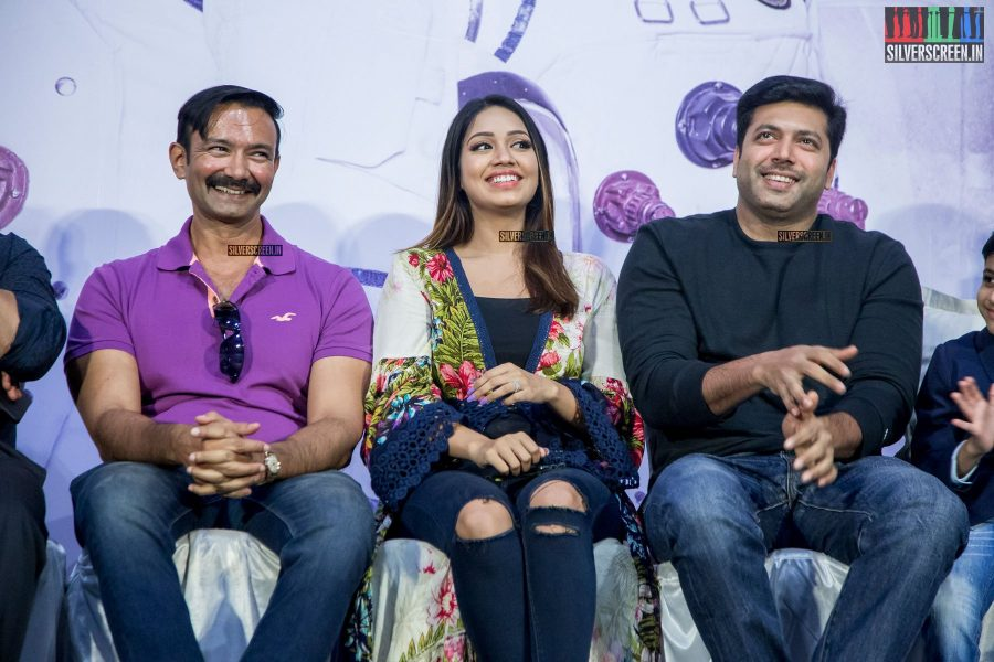 Jayam Ravi, Nivetha Pethuraj  At The Tik Tik Tik Audio Launch