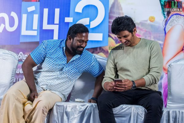 Jiiva and Robo Shankar At The Kalakalappu 2 Press Meet