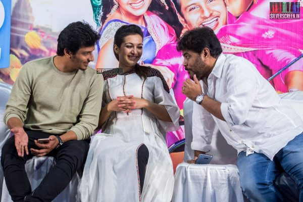 Jiiva, Catherine Tresa, and Sundar C At The Kalakalappu 2 Press Meet