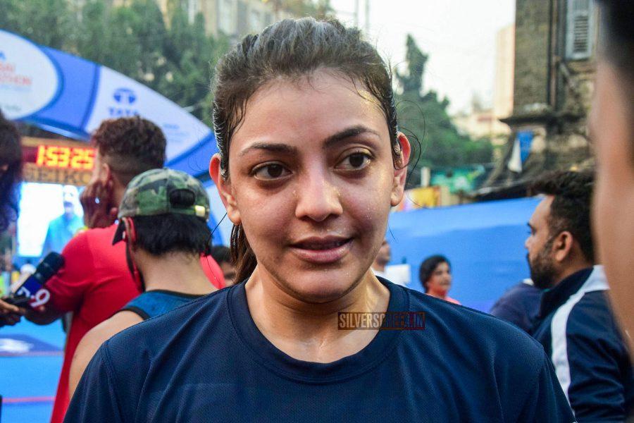 Kajal Aggarwal Take Part In Mumbai Marathon