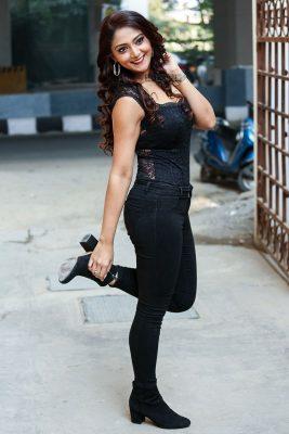 Natasha Doshi During The Promotions of Jai Simha