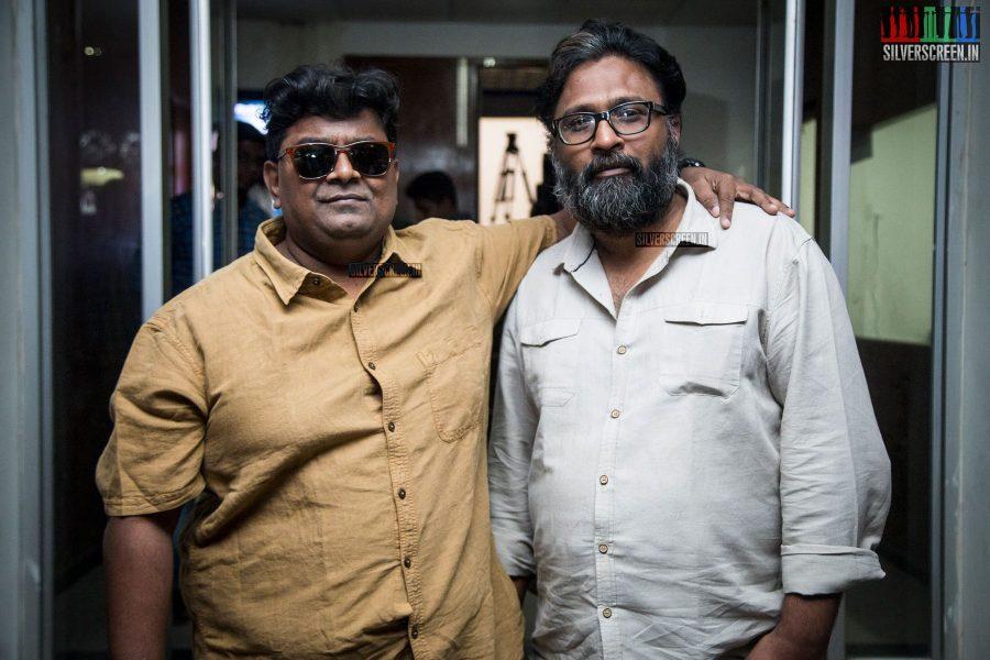 Mysskin and Ram at the Savarakathi Press Meet