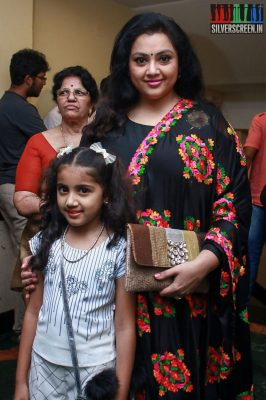 Meena and Nainika At The Gulaebaghavali Movie Premiere