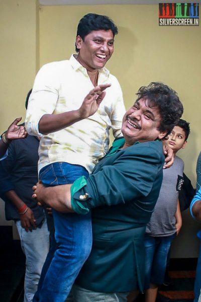 Mansoor Ali Khan At The Gulaebaghavali Movie Premiere