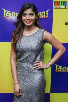 Sanchita Shetty At The Gulaebaghavali Movie Premiere