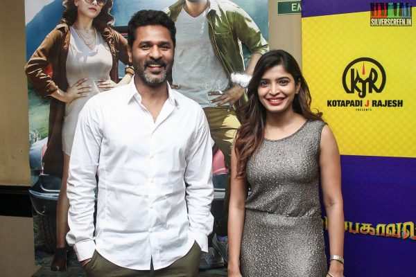 Prabhu Deva and Sanchita Shetty At The Gulaebaghavali Movie Premiere