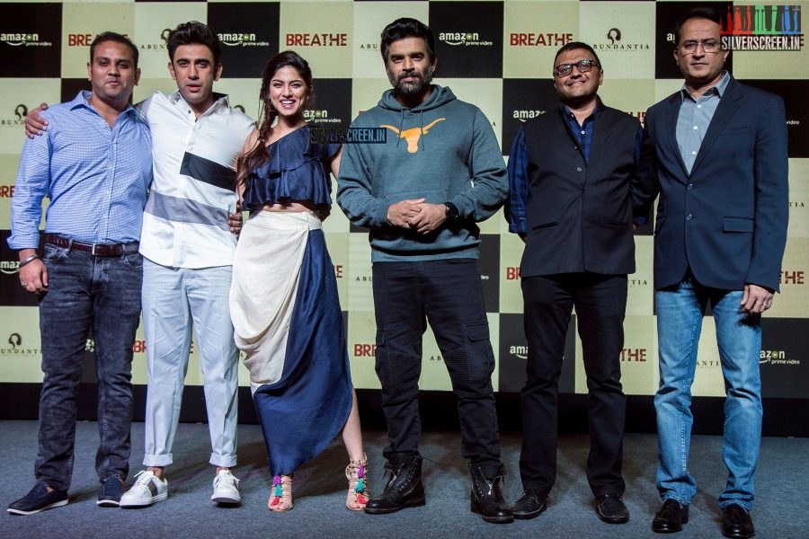 R Madhavan, Sapna Pabbi And Others At The Trailer Launch Of Amazon Prime's Breathe