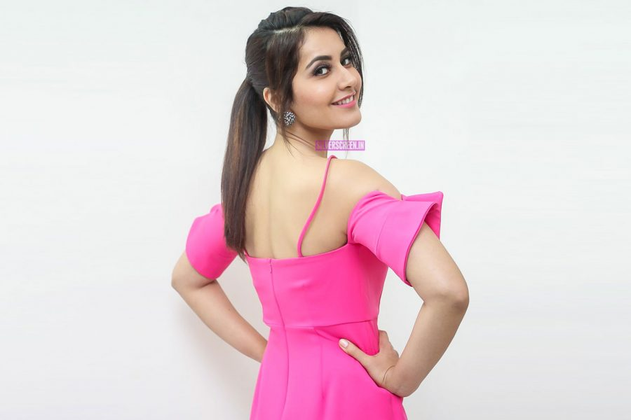 Raashi Khanna During The Promotions Of Touch Chesi Choodu