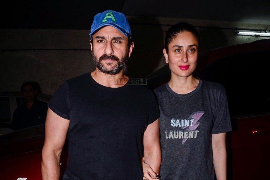Saif Ali Khan, Kareena Kapoor At The Screening Of Kaalakaandi