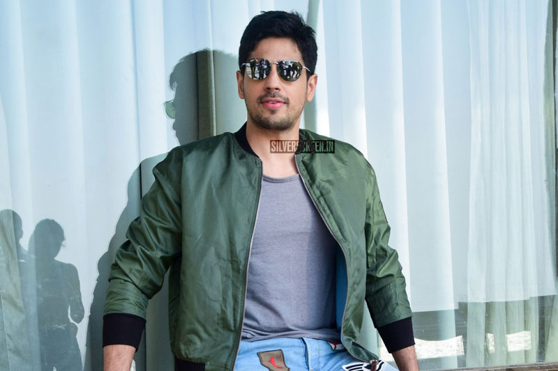 Sidharth Malhotra During The Promotions Of Aiyaary