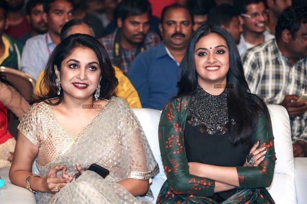 Keerthy Suresh And Ramya Krishnan At The Gang Pre Release Event