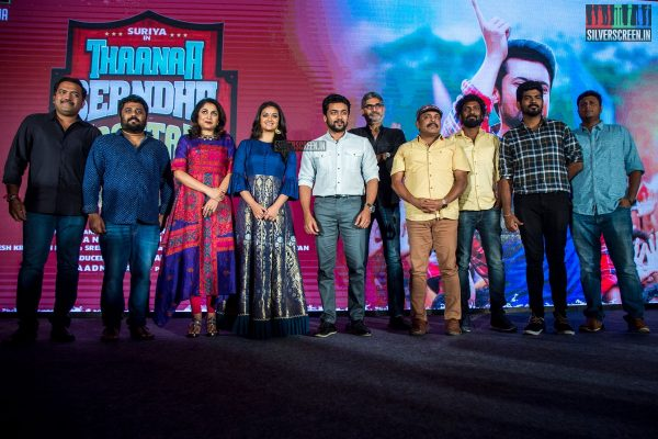 Suriya, Keerthy Suresh, Vignesh Shivan And Others At The Thaanaa Serndha Koottam Press Meet