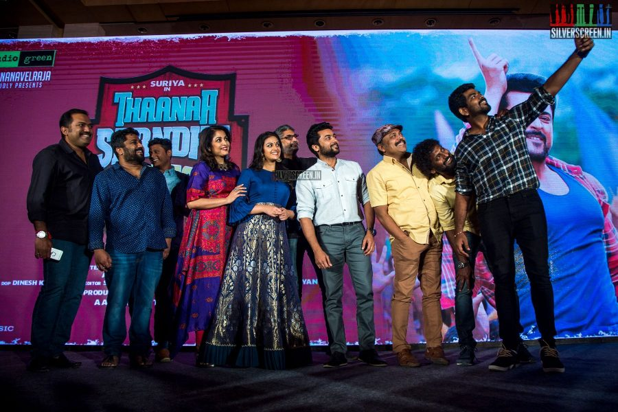 Suriya, Keerthy Suresh, Vignesh Shivan And Others At The Thaanaa Serndha Koottam Press Meet