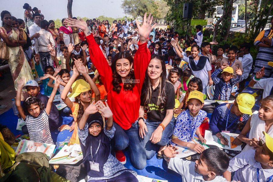 Sushmita Sen At Rouble Nagi Art Foundation's Republic Day art camp