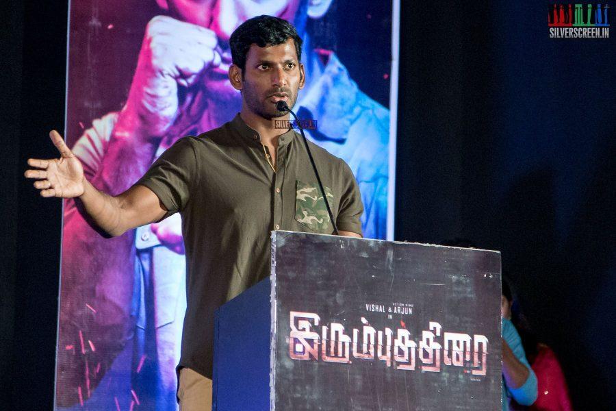 Vishal at the Irumbuthirai Audio Launch