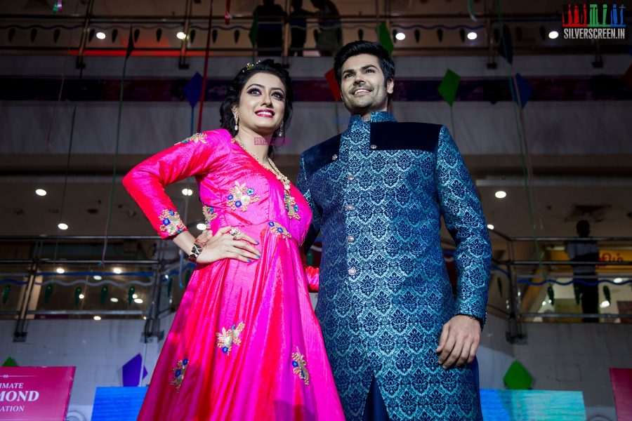Viswa & Devji Present Their Latest Wedding Collections With Ganesh Venkataram & His Wife As Showstoppers