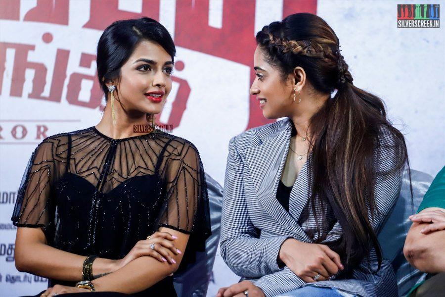 Ashna Zaveri and Masoom Shankar At The Nagesh Thiraiyarangam Press Meet