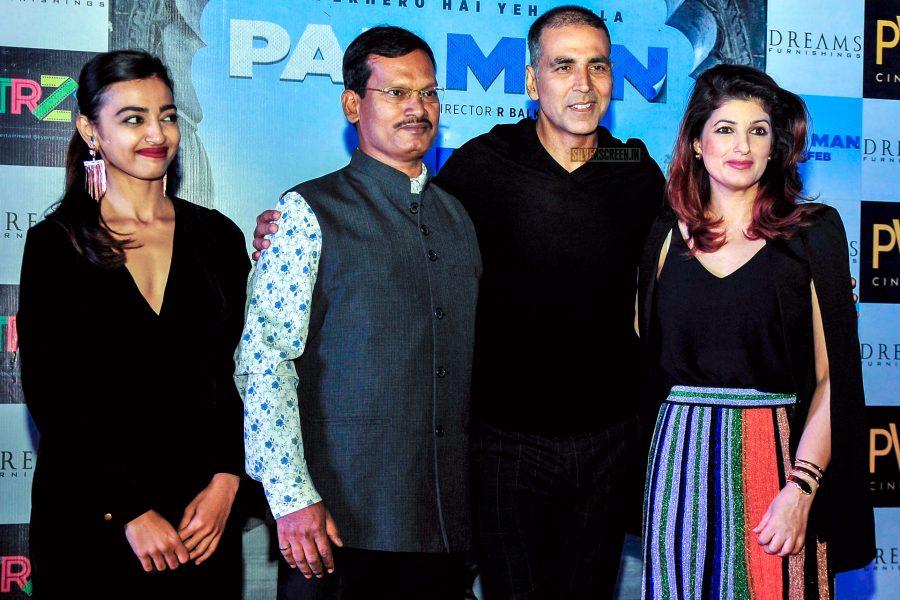Akshay Kumar, Twinkle Khanna, Radhika Apte During The Promotions Of PadMan