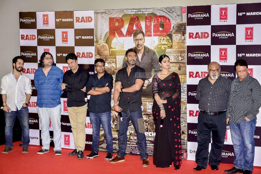Ileana D'Cruz, Ajay Devgn At The Trailer Launch Of Raid